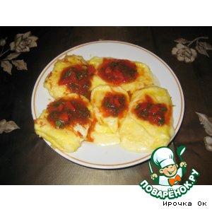 Рецепт Жареный сулугуни с соусом