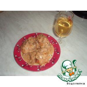 Рецепт Курица в винном соусе