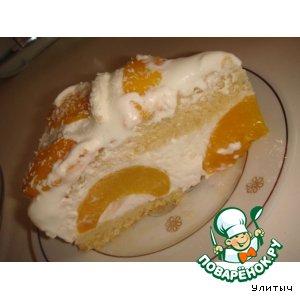 Рецепт Персиковый торт с кокосовым йогуртом