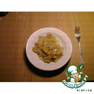 Рецепт Тыква с картофелем и луком