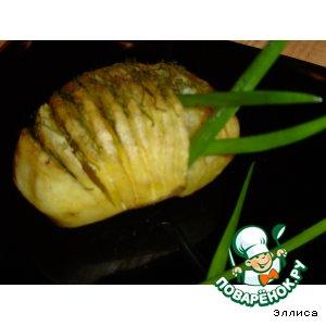 Рецепт Картошка-гармошка с укропом