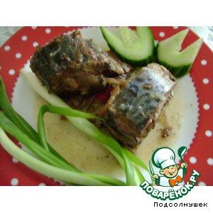 Рецепт Скумбрия подкопчeнная по-домашнему
