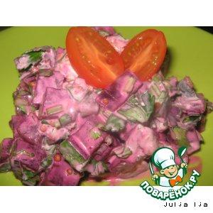 Рецепт Салат свекольный с маринованными грибами и орехами