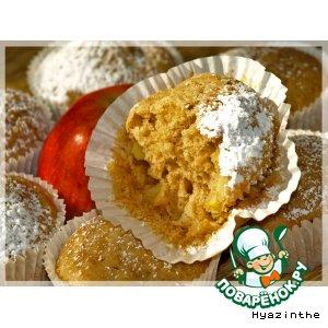 Рецепт Имбирные маффины с яблоками