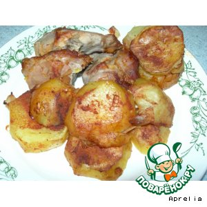 """Рецепт Картофель, запеченный с мясом """"2 в 1"""""""