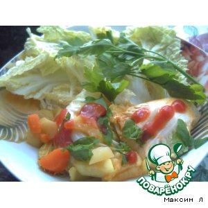 Рецепт Рулетики с овощами