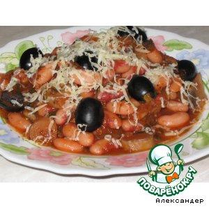 Рецепт Грибы с фасолью в томате