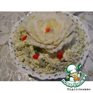 Салат из скумбрии вкусный рецепт приготовления с фото пошагово готовим