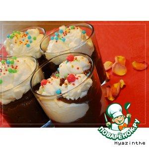 Рецепт Миндальный пудинг с шоколадом