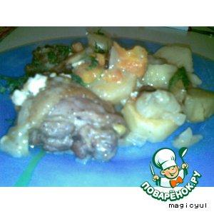 Рецепт Картошка с мясом и яблоками
