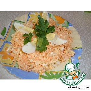 Рецепт Салат из редьки, моркови и яйца