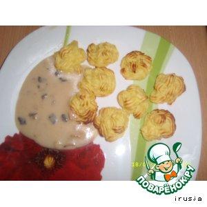 Рецепт Картофельные розочки с грибным соусом