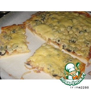 Рецепт Простая пицца с ножками