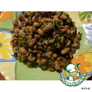 Рецепт Лобио с жареными солеными огурцами