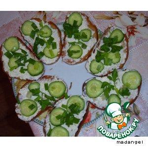 Рецепт Бутерброд зеленый