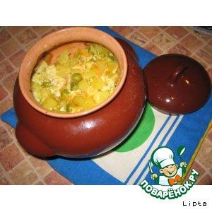 Рецепт Нежное Овощное рагу в горшочках