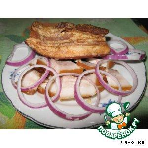 Рецепт Сало копченое (с жидким дымом)