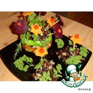 """Рецепт Грибное рагу c вареными овощами """"На цветочной поляне"""""""