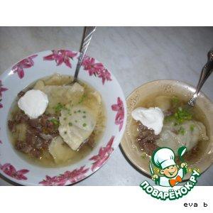 Рецепт Супчик с картофельными варениками