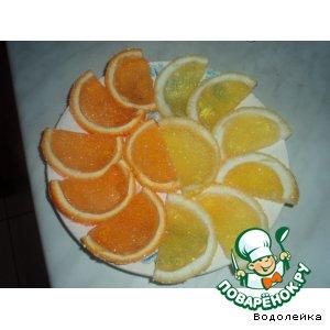 Рецепт Апельсиновые и лимонные дольки