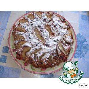 Рецепт Коврижка постная с яблоками