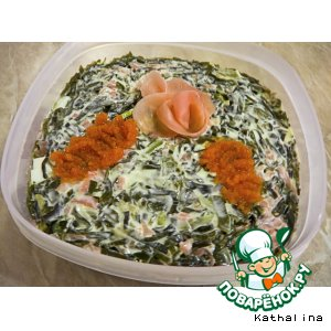 """Рецепт Салат """"Мотив суши"""""""