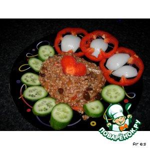 Рецепт Гречка с овощами