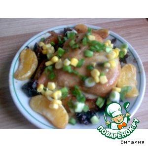 Рецепт Куриная грудка с апельсинами и черносливом