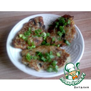 Рецепт Картофельно-грибные оладушки