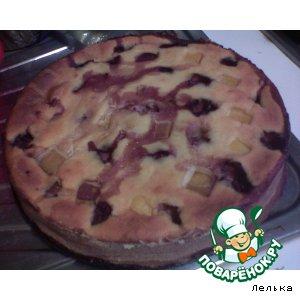 Рецепт Запеканка творожно-манная с клубникой и тыквой