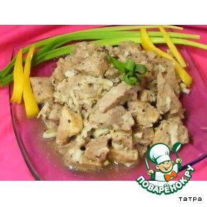 Рецепт Мясо в кокосовой подливе