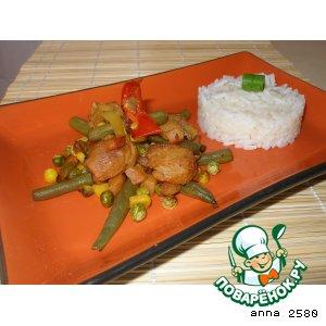 Рецепт Овощи-карри с соевым мясом