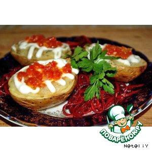 Как приготовить домашний рецепт приготовления с фотографиями Печеный картофель фаршированый грибами