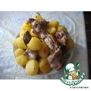 Рецепт Рагу на хрящах, запеченное с картофелем