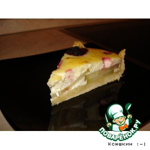 Как приготовить Пирог с творогом, грушами и ягодами домашний рецепт с фотографиями