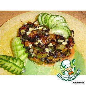 Рецепт Жареные кабачки с чесноком и соевым соусом
