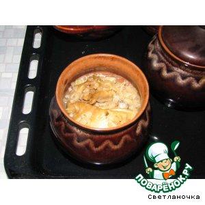 Рецепт Курочка с рисом в горшочке