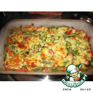 Рецепт Запеченые  овощи   под   сырно - йогуртовым   соусом