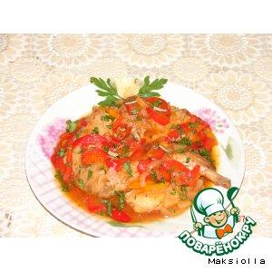 Рецепт Кролик в томатном соке с овощами