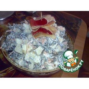 Рецепт Салат из морской капусты с яблоками и овощами