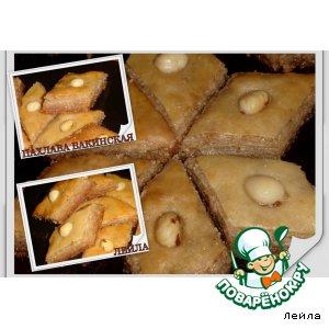 Пахлава  бакинская вкусный рецепт с фото как готовить