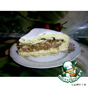 Рецепт Пирог с ореховой начинкой