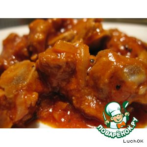 Рецепт Пикантное свиное рагу в томатном соусе