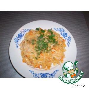 Рецепт Капуста тушеная с рисом