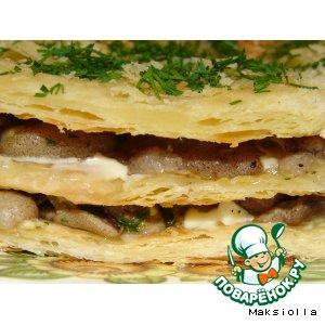 Готовим рецепт приготовления с фото Несладкий грибной тортик