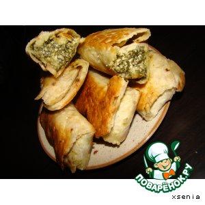 Рецепт Жареный лаваш со шпинатом и сыром