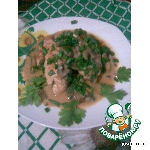 Рецепт Фаршированное куриное филе в грибном соусе