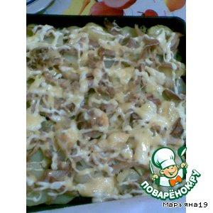 Рецепт Картофель, запеченный с куриным мясом