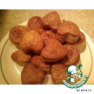 Рецепт Ореховые кексики с клубникой