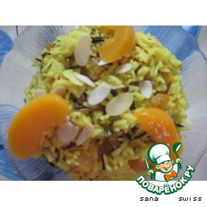 """Рецепт Рис   """"curry""""   c    сухофруктами"""